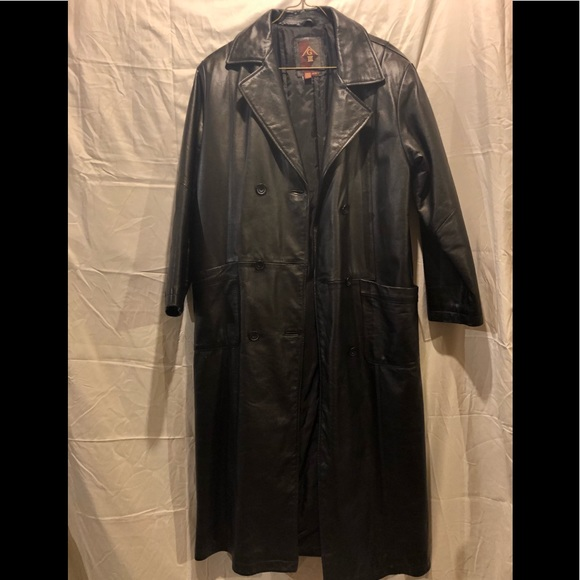 1644e1193 G III Vintage Leather trench coat